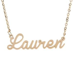 Jewelry - Lauren Gold Name Nameplate Necklace B25